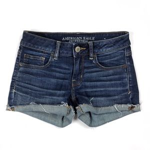 American Eagle denim stretch cutoff jean shorts